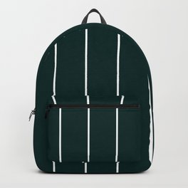 Forest Green Stripes Pinstripe Backpack