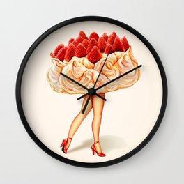 Cake Girl - Pavlova Wall Clock