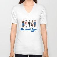 brooklyn V-neck T-shirts featuring Brooklyn  by harlembrooklyn