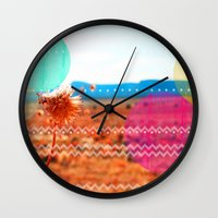 wind Wall Clocks featuring Wind by Kakel-photography