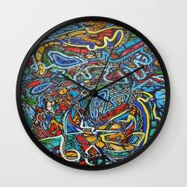 Alien Texture 2 Wall Clock