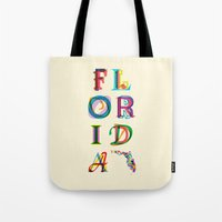 florida Tote Bags featuring Florida by Fimbis