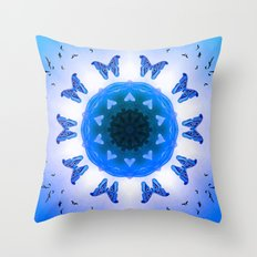 All things with wings (blue) Throw Pillow