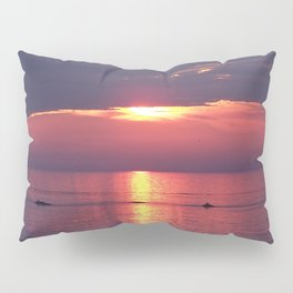 Holes in the Clouds, sunset on the water Pillow Sham