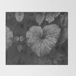 Grey Grey Heart Throw Blanket