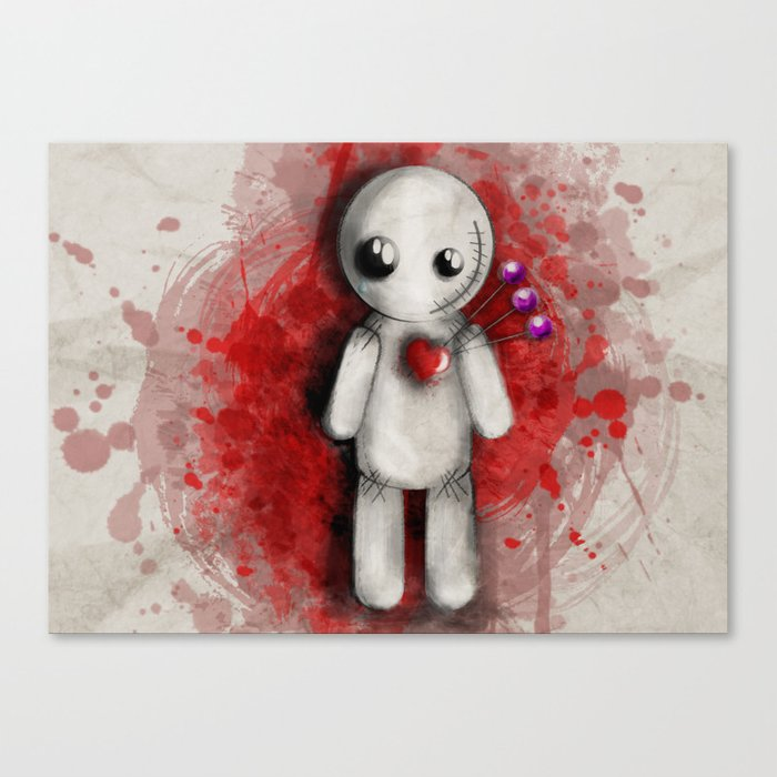 Halloween Theme [Voodoo Doll] Canvas Print by cafelab