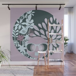 Afro Diva : Sophisticated Lady Pastel Wall Mural