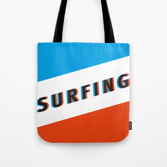 SURFING 3D - Square Tote Bag