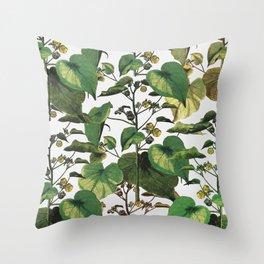 wild nature leaves savage Throw Pillow
