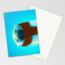 Polar bear with scarf Stationery Cards
