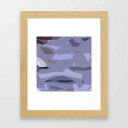 Fragmented Violet Framed Art Print