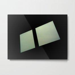 Two White Squares Metal Print