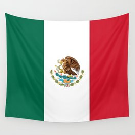 The Mexican national flag - Authentic high quality file Wall Tapestry