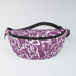 Purple White Lines Fanny Pack