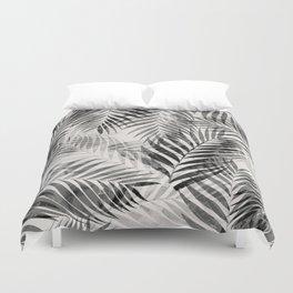 Palm Leaves - Black & White Duvet Cover