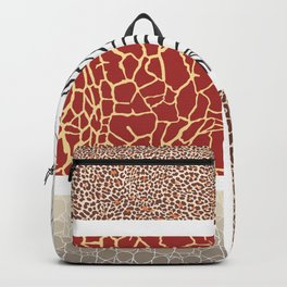 Africa - background with text and texture wild animal Backpack