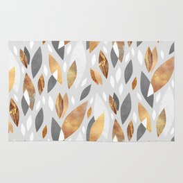 Falling Gold Leaves Rug