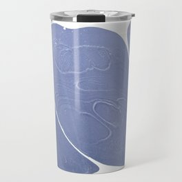 Blue and white marbled Shell Travel Mug