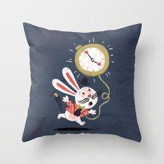 White Rabbit - Alice in Wonderland Throw Pillow