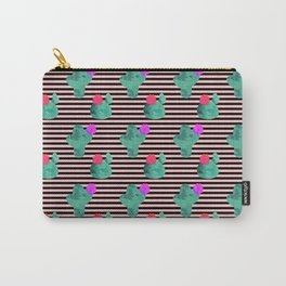 Cactus Stripes Peach Background Carry-All Pouch