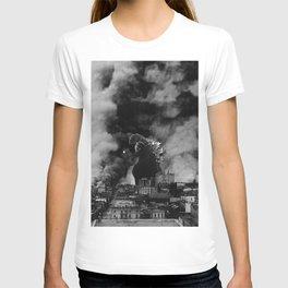 Old Time Godzilla San Francisco Fire T-shirt