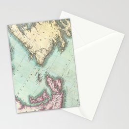 Vintage Map of Nova Scotia and Newfoundland (1807) Stationery Cards