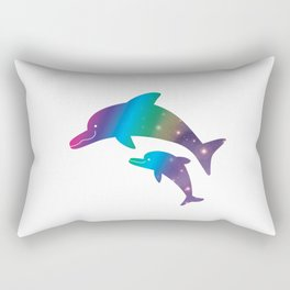Universe  in Parent-child of dolphin_02 Rectangular Pillow
