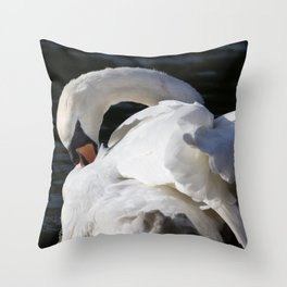 Peaceful Swan Throw Pillow