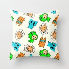Kawaii Kumas Throw Pillow