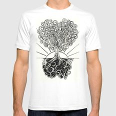 Grounded Heart in Bloom & Branches #1 White Mens Fitted Tee SMALL