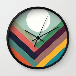 Rows of valleys Wall Clock