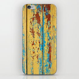 Wooden deck. iPhone Skin