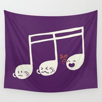 key Wall Tapestries featuring Sounds O.K. (off key) by Picomodi