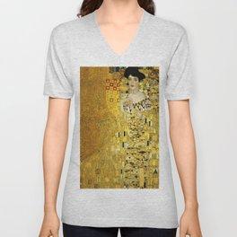 Portrait of A. Bloch-Bauer I by Gustav Klimt Unisex V-Neck