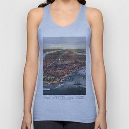 Gang of new york city old map Father Day art print poster Unisex Tank Top
