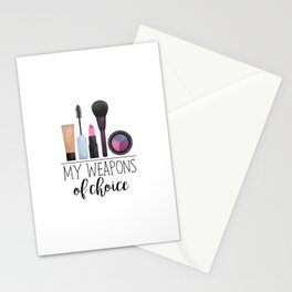 My Weapons Of Choice  |  Makeup Stationery Cards