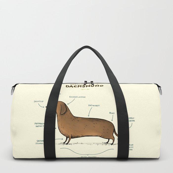 Anatomy of a Dachshund Duffle Bag