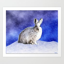White Hare Art Prints For Any Decor Style Society6