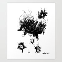 Burning Turtle Men Art Print