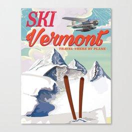 Vermont vintage ski travel poster Canvas Print