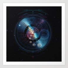 Space Music Art Print