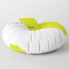 san francisco love Floor Pillow