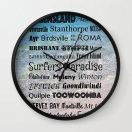 Queensland Poster Wall Clock