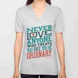 Never Ordinary - Oscar Wilde Unisex V-Neck