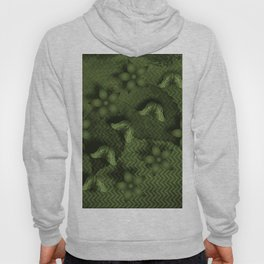 Camouflaged butterflies and flowers in green Hoody