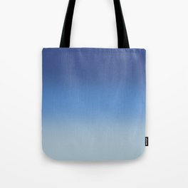 Pantone Classic Blue, Provence Blue and Baby Blue Gradient Ombré Tote Bag