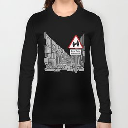 Low Flying Spacecraft Long Sleeve T-shirt