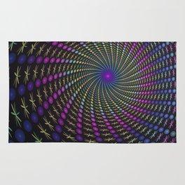 Colorful Depth Fractal Art Rug