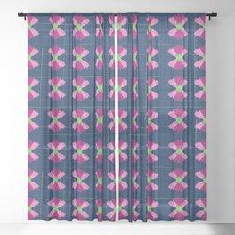 Little bow flowers Sheer Curtain