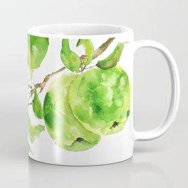 green apple watercolor Coffee Mug